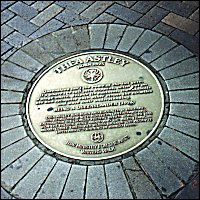 Thea Astley pavement plaque at Writers' Walk