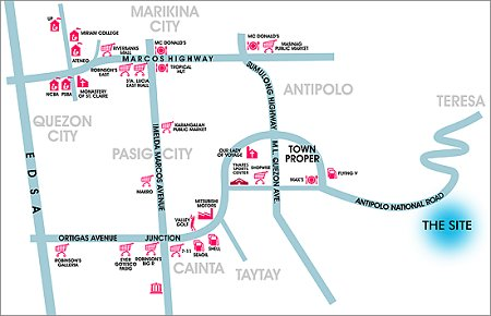 Vicinity map, St. Gabriel, Antipolo